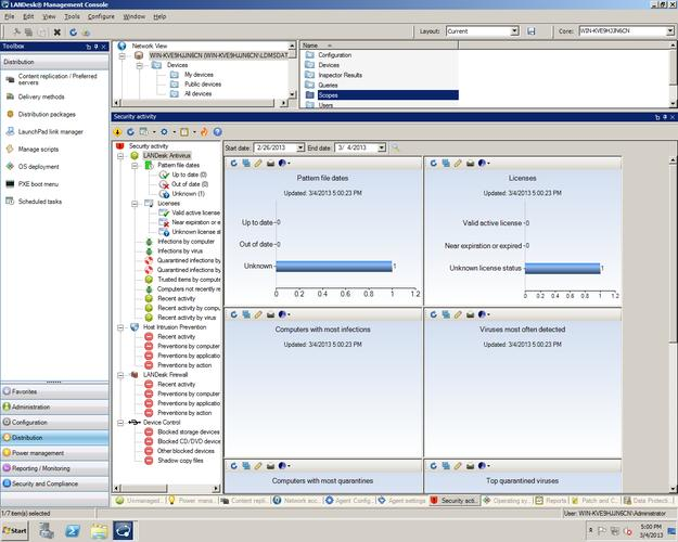 LANDesk provides its own anti-virus and anti-malware solution for clients.