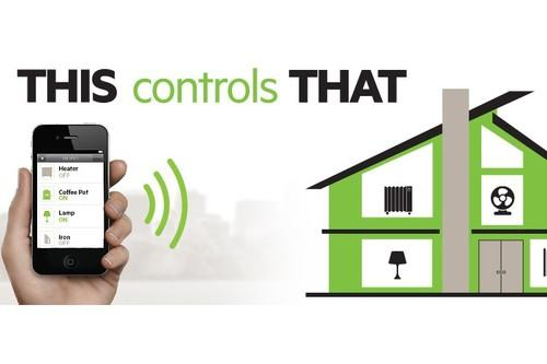 An illustration of how Belkin's WeMo home automation system works.