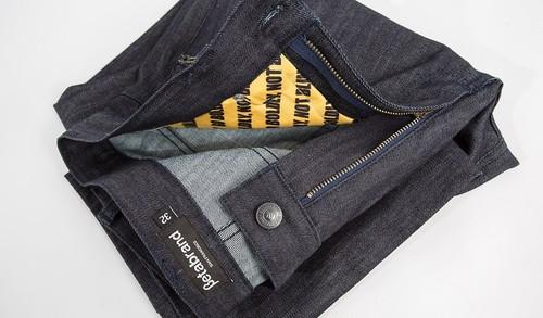 Clothing maker Betabrands is currently running a crowd funding campaign for RFID-defeating clothing in partnership with PC security firm Norton. The line-up includes a $198 blazer and a pair of $168 jeans. The 'Ready Jeans Protected by Norton' feature two pockets—one in the front and back—protected by RFID-blocking fabrics.