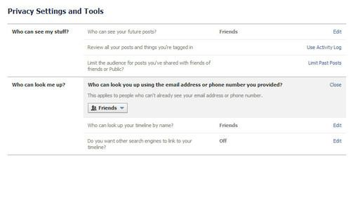 Want to see if your phone number is searchable? Check your privacy settings.
