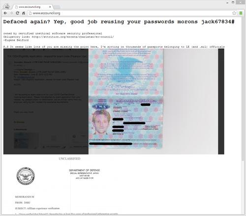 Redacted version of EC-Council website defacement