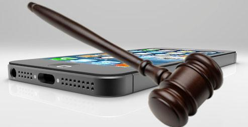 Phone and gavel