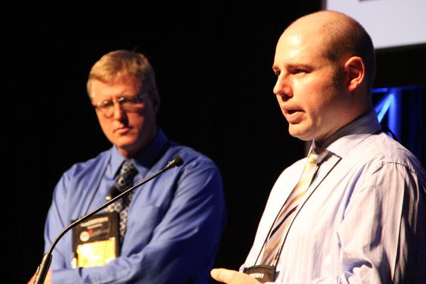 Brisbane City Council's John Harrison and Trent Prasser.
