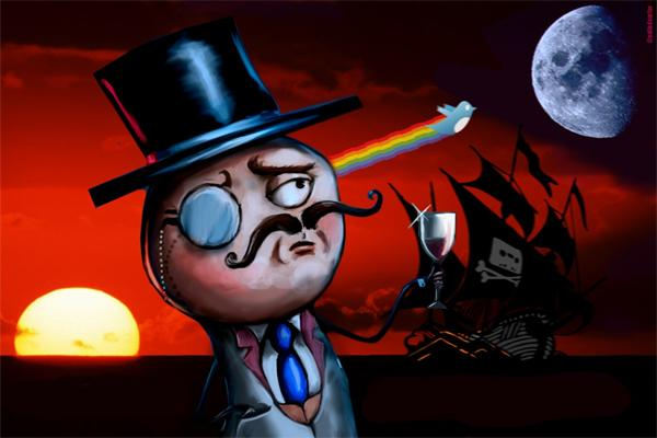 Shooting for the Moon: Does this image hint at LulzSec's next target after The Sun, or is it just another distracting joke? (source unknown)