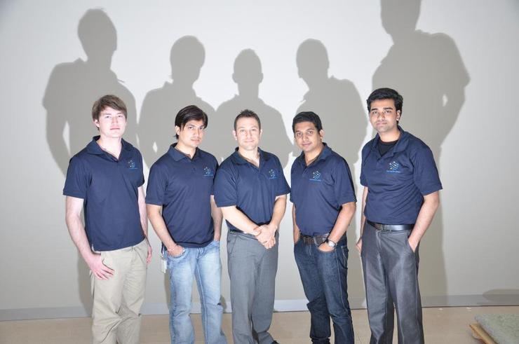 The Southern Cross Magpies. From left: Terry Morias, Omprakash Moolchandani, Ryan Morris, Anoop Neerakulath and Rahul Satheesan.