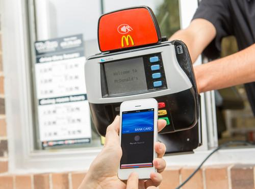 Leah and Caitlin both first used Apple Pay at McDonald's, because why wouldn't you?