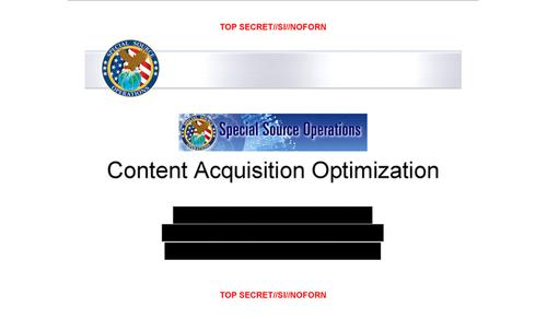 The first page of the PowerPoint used in the Post's story with some information redacted.