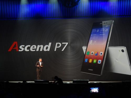 Richard Yu, Chief Executive Officer of the Consumer Business Group at Huawei Technologies, at the launch of the Ascend P7