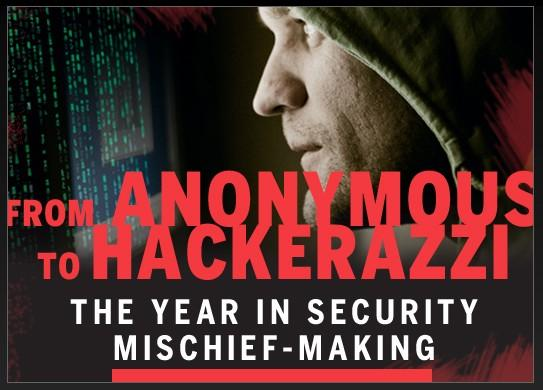 From Anonymous to Hackerazzi: The year in security mischief-making